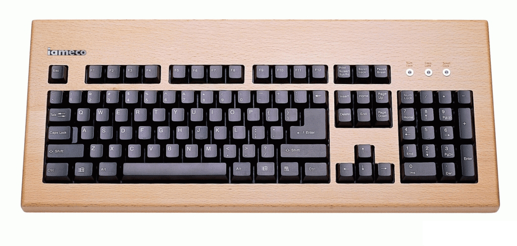 iameco beech wooden keyboard