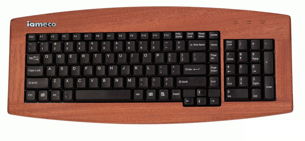 iameco sapele wooden keyboard