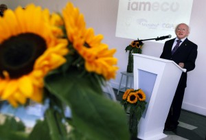 President of Ireland Higgins Launches iameco
